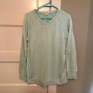 GAP Maternity mint sweatshirt Large